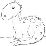 Disegni da colorare dei dinosauri_dinosauro cartoon
