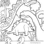 Disegni dei dinosauri da colorare
