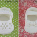 Scarpine neonata in pasta di zucchero_colore bianco