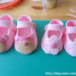 Scarpine neonato in pasta di zucchero per torte battesimo