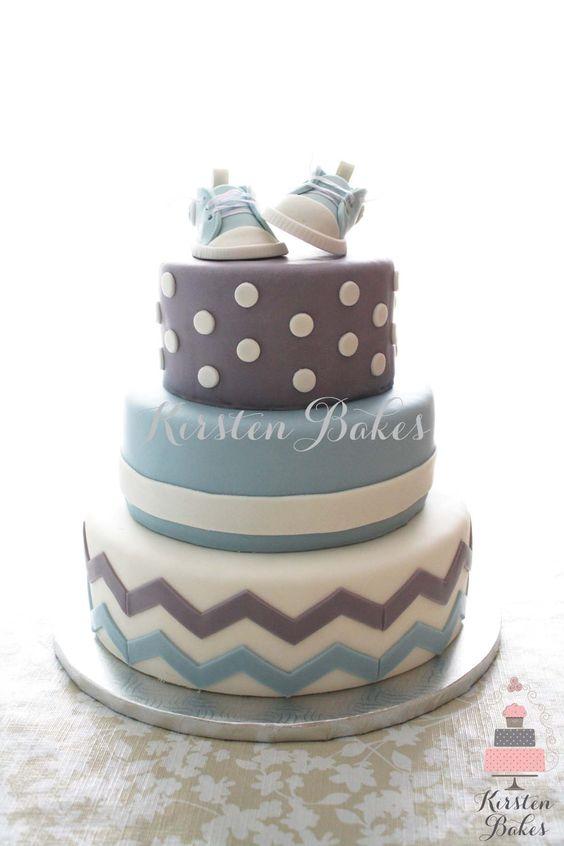 Favoloso Torta battesimo maschietto con scarpine neonato in pasta di  XB98
