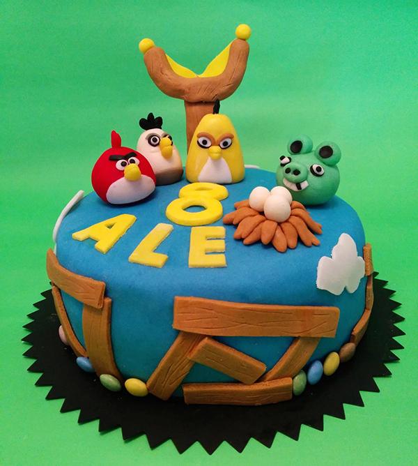 Torta di compleanno per bambini maschi _Angry Birds