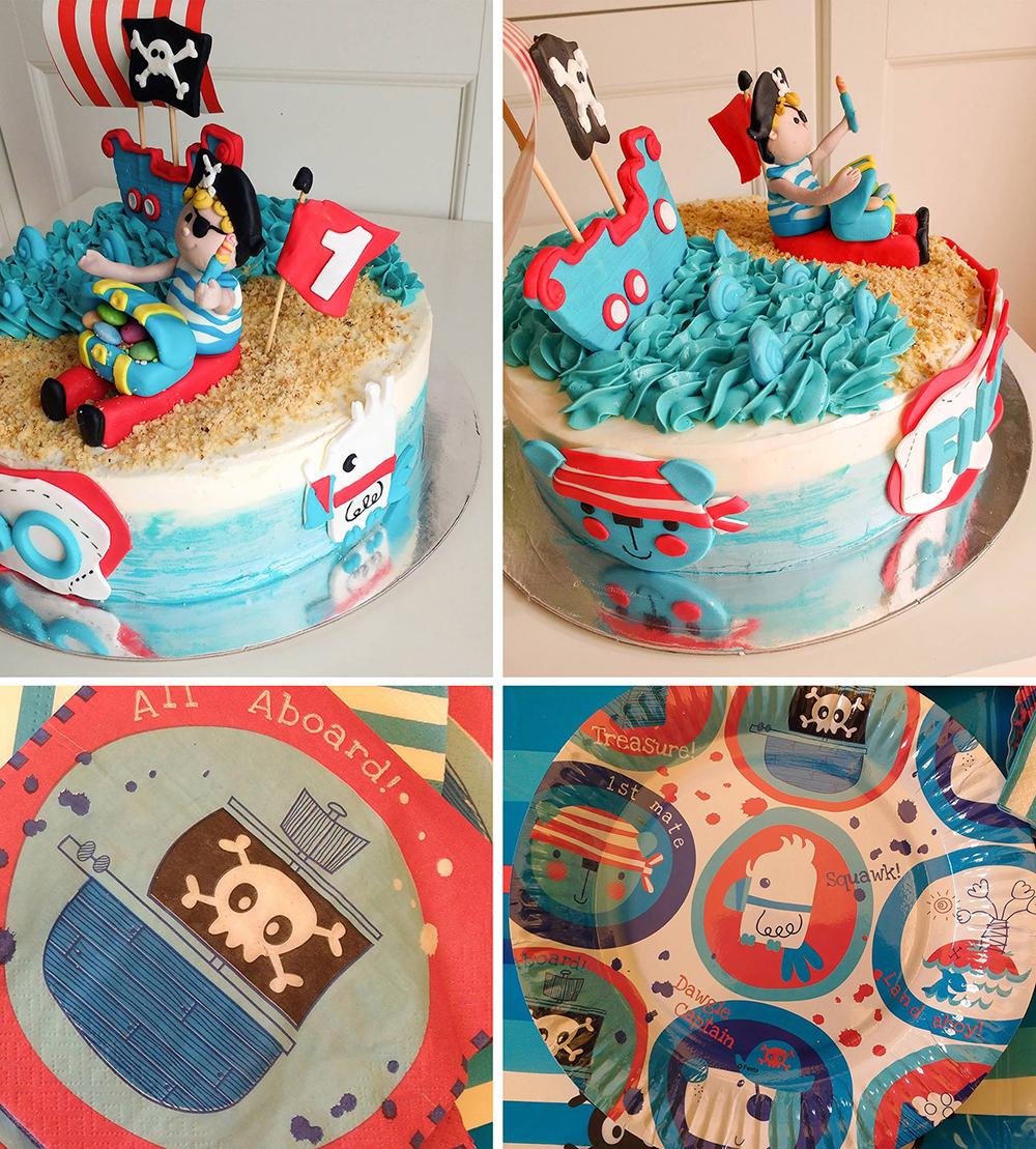 Torta di compleanno per bambini maschi_pirati