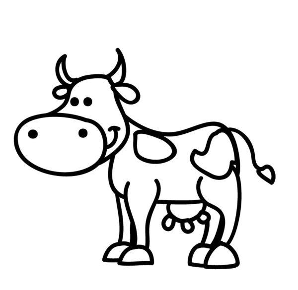 disegni di animali da stampare: la mucca
