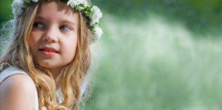 Coroncine di fiori ideali per pettinature per Prima Comunione e matrimonio