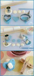 Come fare biberon e ciuccio in pasta di zucchero