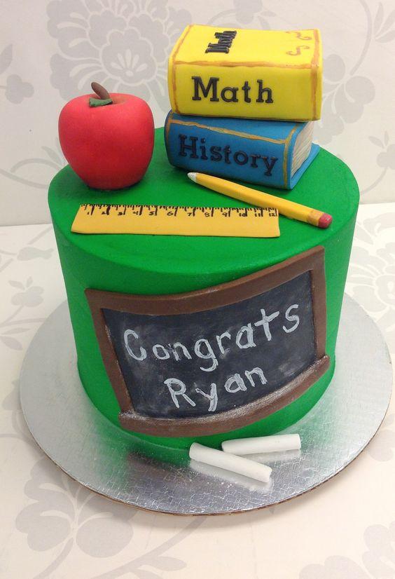 Torte fine anno scolastico elementari in pasta di zucchero