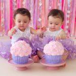 Torte di compleanno per gemelle cupcakes