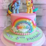 Torte di compleanno per gemelle femmine Little Pony