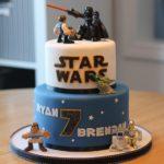 Torte di compleanno per gemelli maschi di star wars