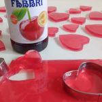 Dolcetti per tutta la famiglia: cuoricini di gelatina allo Sciroppo Amarena Fabbri