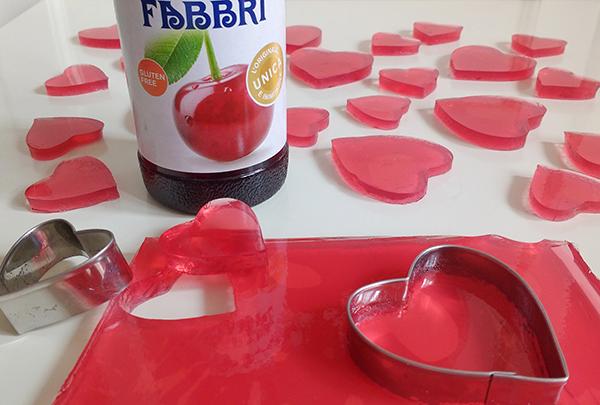 cuoricini di gelatina allo Sciroppo Amarena Fabbri _tutorial