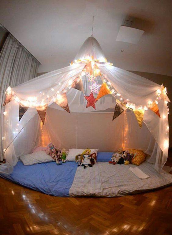 Come fare una tenda per pigiama party grande in voile