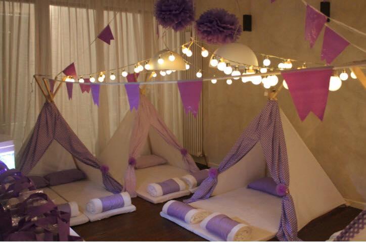 Come fare una tenda per pigiama party lilla e pois