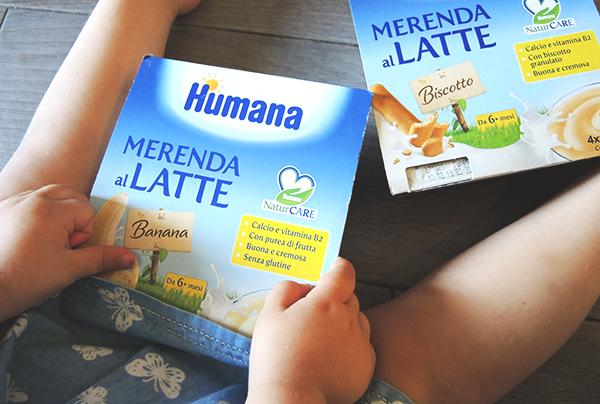 Merenda in vacanza con bambini piccoli - Merenda al latte Humana_piedini