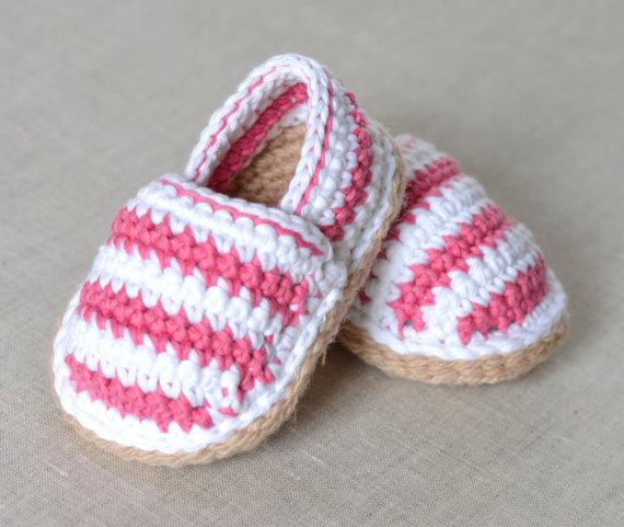 espadrillas scarpine uncinetto neonato