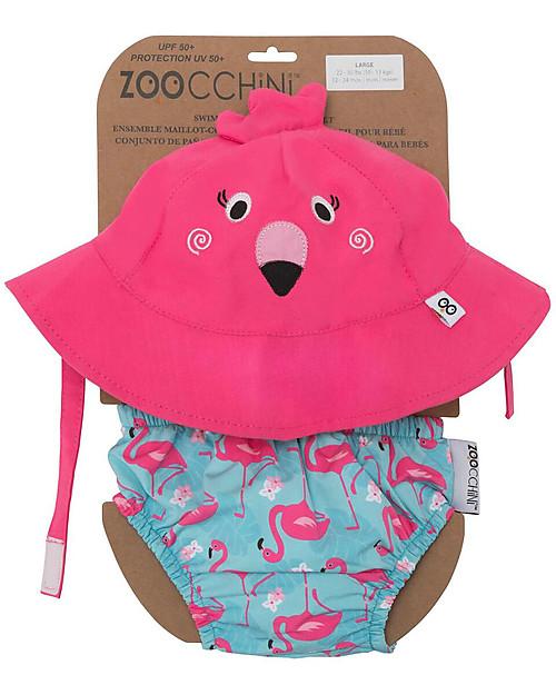 costume con cappellino e fenicottero rosa