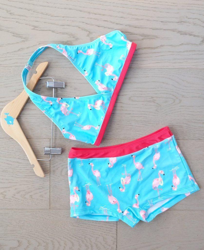 bikini con fenicottero rosa
