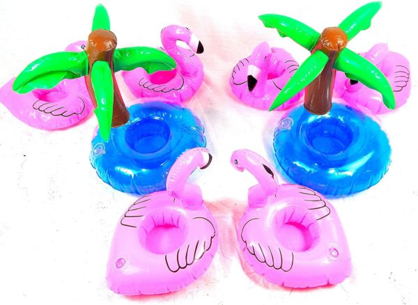 fenicottero rosa galleggianti bibite
