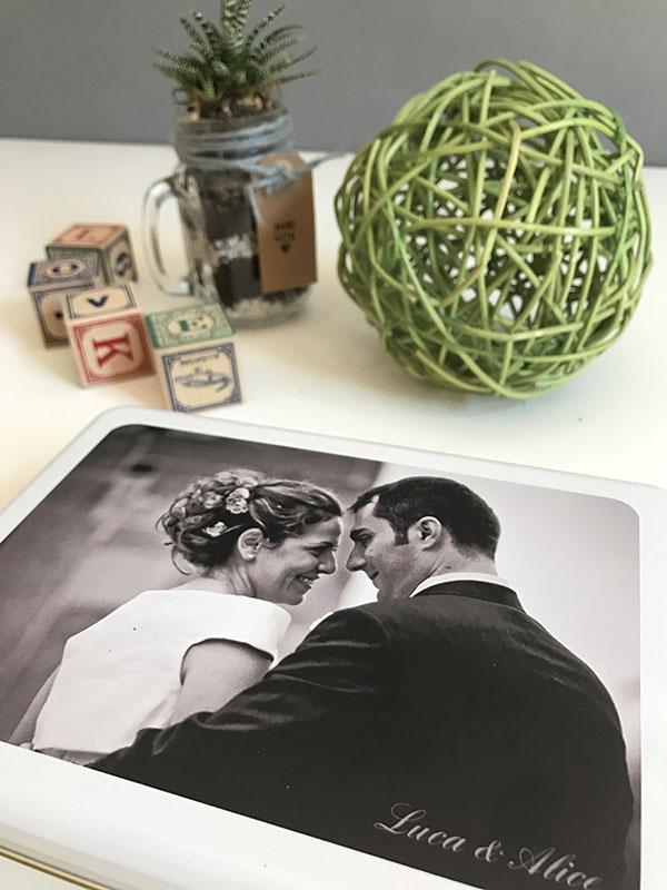 Memory Box _ regali per anniversario Photosi _ scatola in bianco e nero