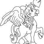 Disegni da colorare degli unicorni con cuore
