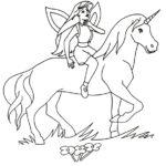 Disegni da colorare degli unicorni con fatina