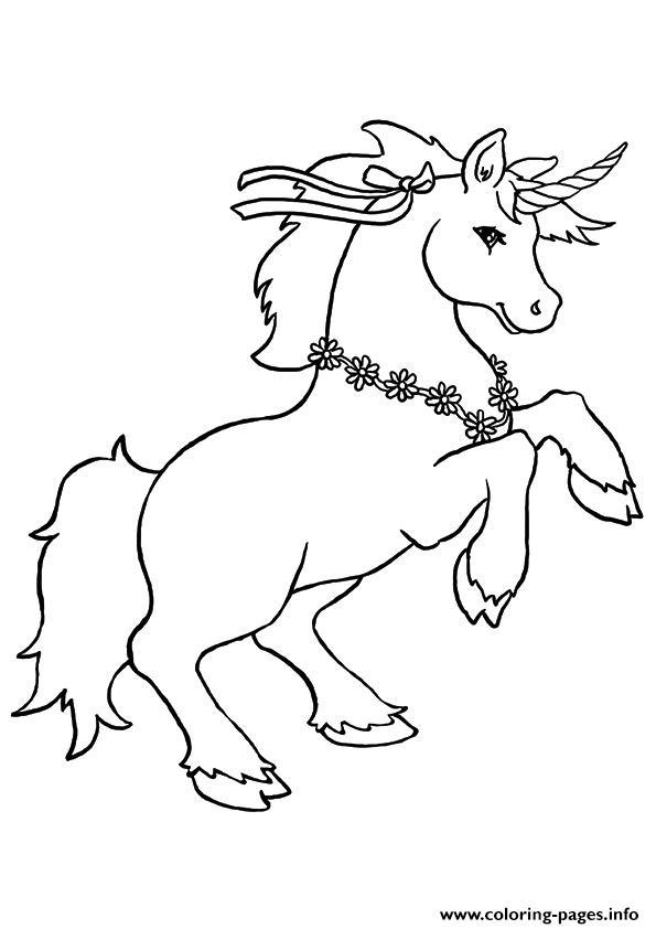 Disegni da colorare degli unicorni con fiori