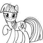 Disegni da colorare degli unicorni con mini pony stellato