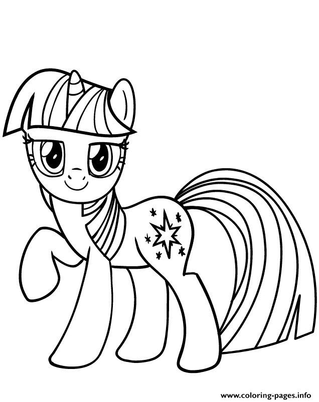 Disegni da colorare degli unicorni con mini pony stellato - Unicorno alato pagine da colorare ...