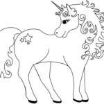 Disegni da colorare degli unicorni con stelle