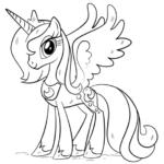 Disegni da colorare degli unicorni - princess Luna