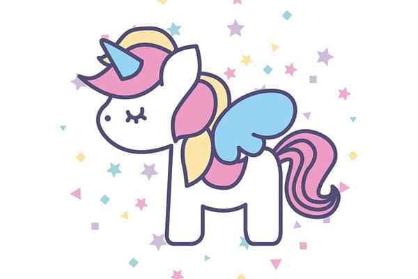 Disegni da colorare degli unicorni con colori pastello