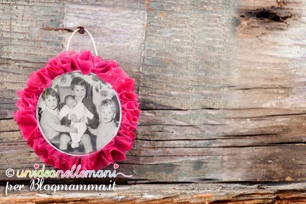 coccarda porta foto per lavoretti festa dei nonni