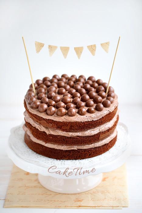 Torte di compleanno al cioccolato naked cake