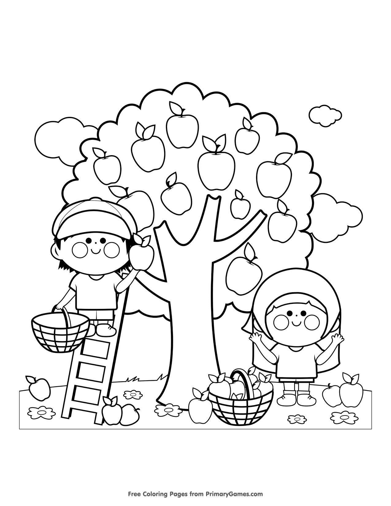 disegni da colorare per bambini gratis autunno