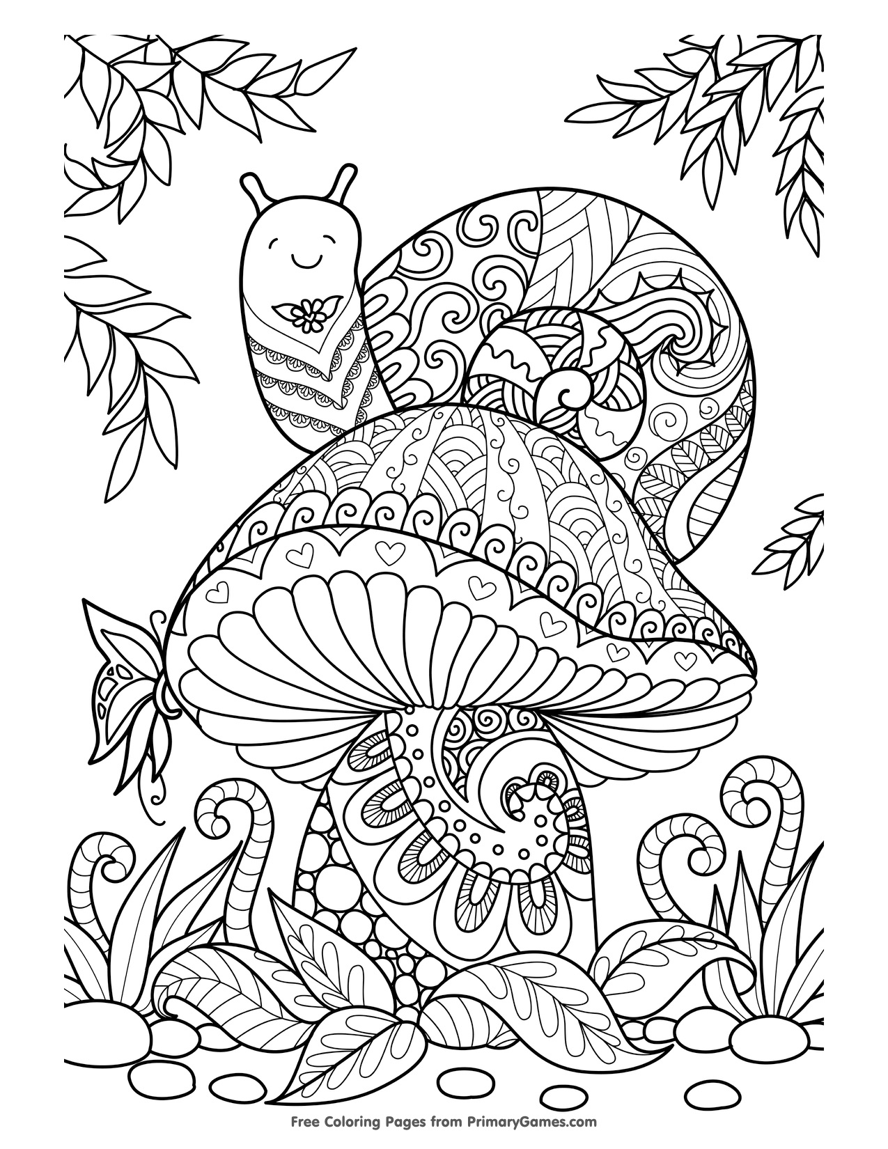 Disegni dell 39 autunno da colorare e stampare gratis fungo for Disegni da colorare e stampare di cars