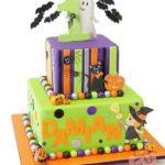 Torte di Halloween per feste di compleanno bambini _ con gattino e strega