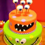 Torte di Halloween per feste di compleanno bambini con mostri