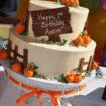 Torte di Halloween per feste di compleanno bambini con zucca e frosting
