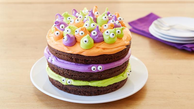 Torte di Halloween per feste di compleanno bambini multicolore con mostri
