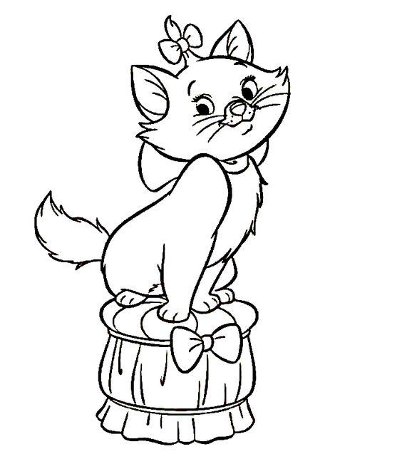 disegni di gatti da colorare e stampare gratis _ Minù