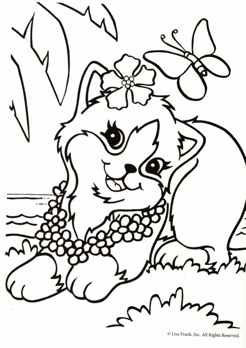 Molto disegni di gatti da colorare e stampare gratis _ gattina con  ZI59