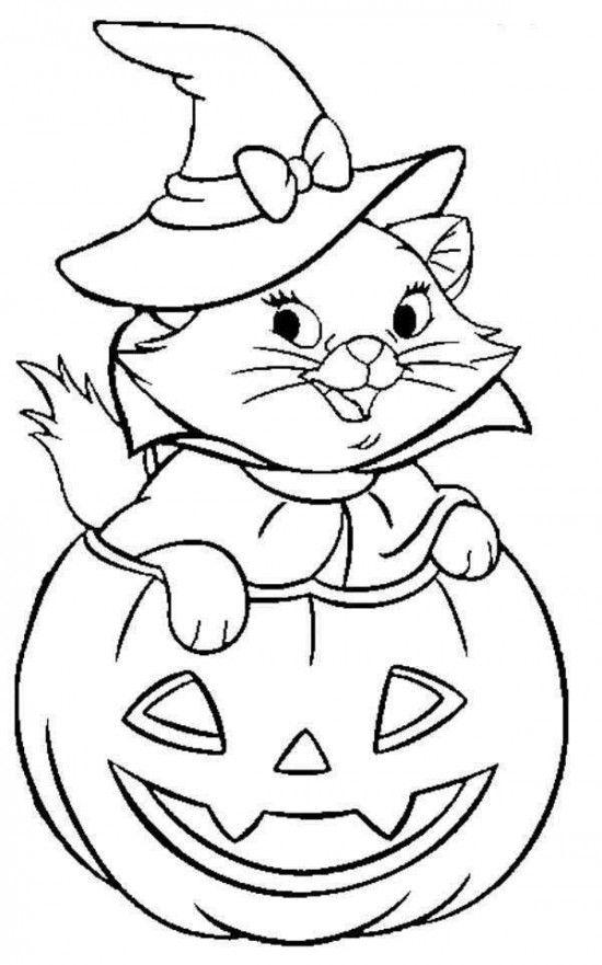 disegni di gatti da colorare e stampare gratis gattina