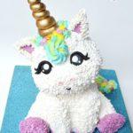 torte unicorno in 3d per feste di compleanno bambini