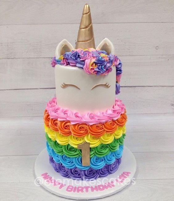 Famoso torte unicorno per feste di compleanno bambini _ frosting  VG22