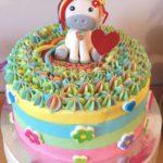 torte unicorno per feste di compleanno bambini con sfumature ganache