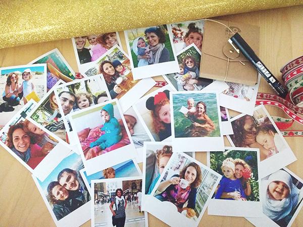 Calendario dell'avvento fai da te- foto vintage stampate online - foto