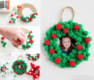 Decorazioni di Natale fai da te con i pompon _ addobbi per albero di Natale con pom pom