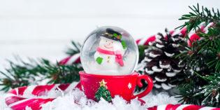 Globo di neve con barattoli di vetro: Riciclo creativo