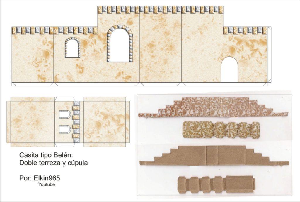 Casetta presepe carta cartone stampare ritagliare - Casetta in cartone da colorare ...